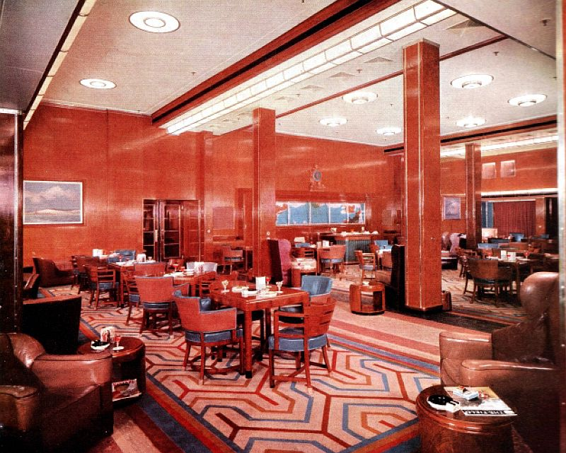 First Class Smoking Room aboard the RMS Queen Elizabeth