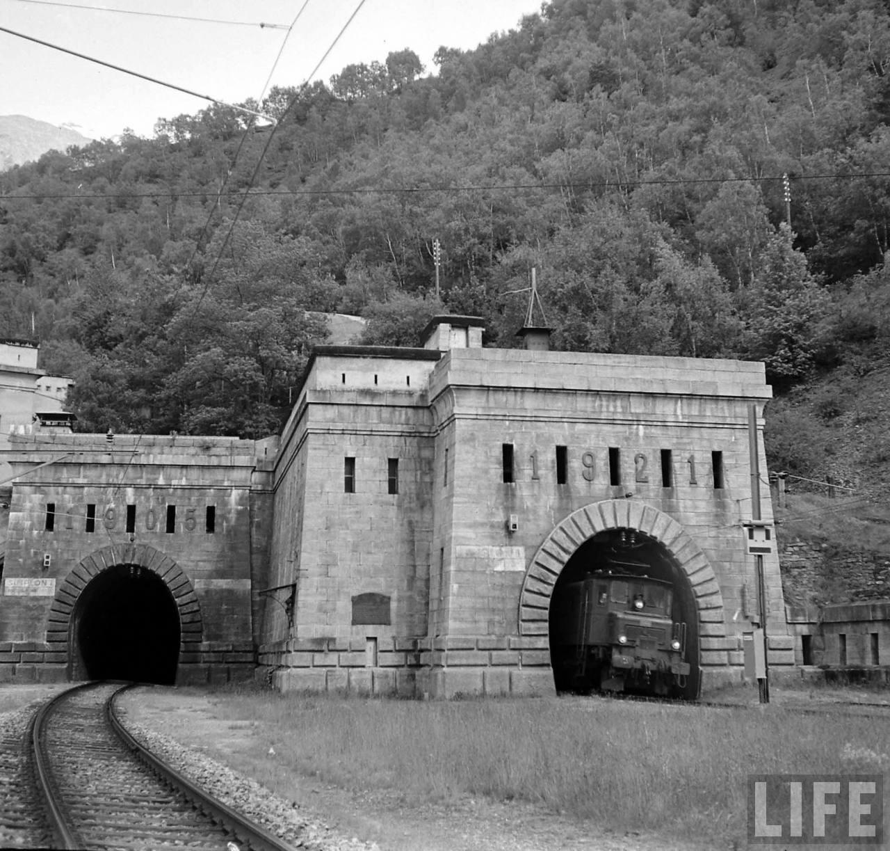 Swiss Side of Simplon Tunnel.